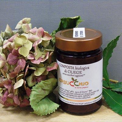 Composta biologica di ciliegie
